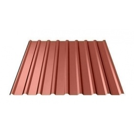 Профнастил Ruukki Т20 Polyester matt 17,5 мм красный
