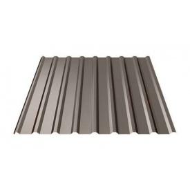 Профнастил Ruukki Т20 Polyester matt 17,5 мм темно-коричневый