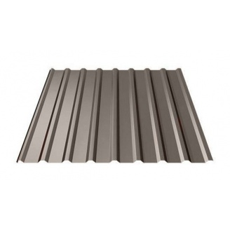 Профнастил Ruukki Т20 Pural Matt 17 мм темно-коричневый
