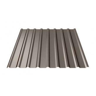 Профнастил Ruukki Т20 Polyester matt 17 мм темно-коричневый