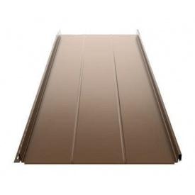 Фальцевая кровля Ruukki Classic D Silence Pural matt 505 мм темно-коричневый