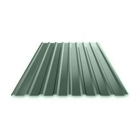 Профнастил Ruukki Т15 Pural Matt фасадный 13,5 мм темно-зеленый