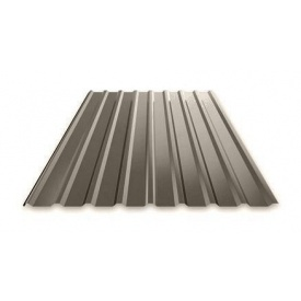 Профнастил Ruukki Т15 Polyester Matt фасадный 13,5 мм темно-серый