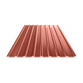 Профнастил Ruukki Т15 Polyester фасадный 13,5 мм красный