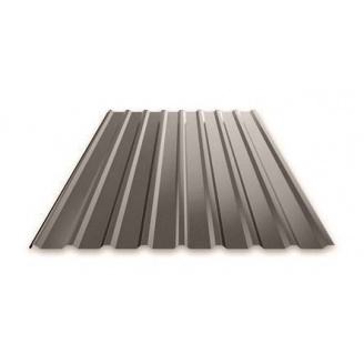 Профнастил Ruukki Т15 Polyester Matt фасадный 13,5 мм темно-коричневый