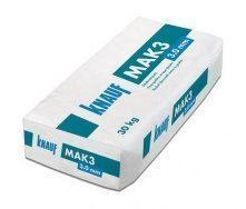 Штукатурка Knauf Mak3 тонированная 3 мм 30 кг натурально белая