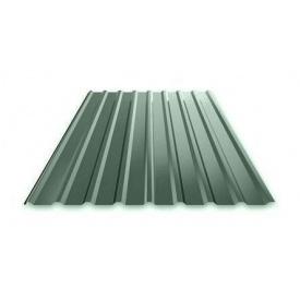 Профнастил Ruukki Т15 Purex/Crown BT фасадный 13,5 мм темно-зеленый