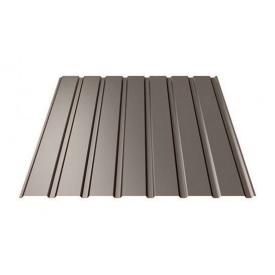 Профнастил Ruukki Т15-115 Polyester matt фасадный 13,5 мм темно-коричневый