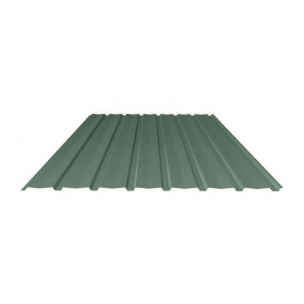 Профнастил Ruukki Т15-115V Polyester фасадный 13,5 мм темно-зеленый