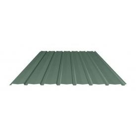Профнастил Ruukki Т15-115V Pural matt фасадный 13,5 мм темно-зеленый