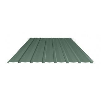 Профнастил Ruukki Т15-115V Polyester стеновой 13 мм темно-зеленый