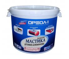Мастика битумно-алюминиева Ореол-1 Защитная 9 кг