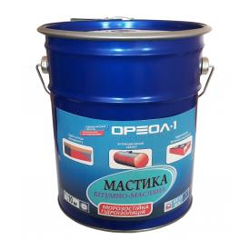 Мастика бітумно-масляна Ореол-1 МБ-50 морозостійка 10 кг