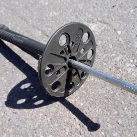 Термодюбель с металлическим гвоздем и термоколпачком 10х140 мм белый
