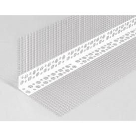 Угол фасадный с сеткой пластик 3 м