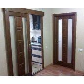 Розсувні двері КВАДРО каштан