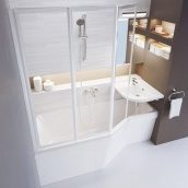 Ванна акриловая RAVAK BeHappy асимметричная 150х75 см правая