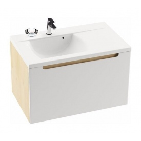 Шкафчик под умывальник RAVAK Classic SD L 800 800x490x470 мм белый/белый