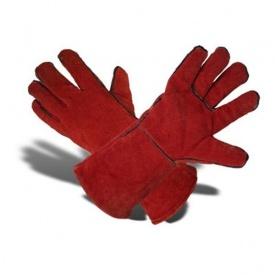 Перчатки с крагами ТК-Спецодяг спилок красные