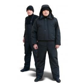 Комбинезон с курткой утепленный ТК-Спецодяг плащевая ВО синий