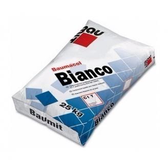 Клей для плитки Baumit Bianco 25 кг белый