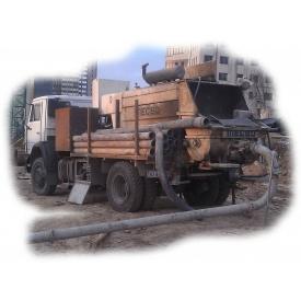 Аренда мобильного бетононасоса 60-70 м3/ч 120-140 м трассы