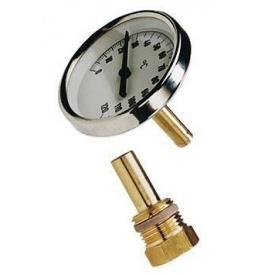 Термометр аксіальний з занурювальний гільзою T63/50 0-120°C