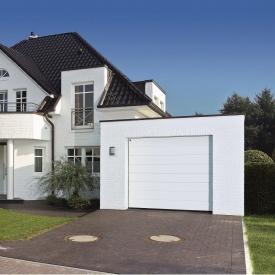 Ворота гаражные секционные Hormann RenoMatic light 5000x2125 мм RAL 9016 белый