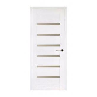 Дверь межкомнатная Двери Белоруссии Бристоль ПГ 600x2000 мм белый ясень