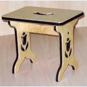 Табурет Фанплит деревянный светлый