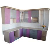 Кухня Фанплит серо-фиолетовая