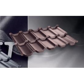 Модульная металлочерепица Venecja D-Matt 0,805 м2 коричневая