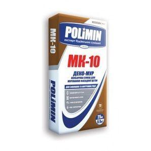 Кладочна суміш Polimin Деко-мур МК-10 25 кг коричневий