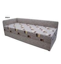 Ліжко Віка Болеро з матрацом меблева тканина 82х202х65 см