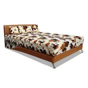 Кровать Вика Сафари 160 с матрасом 160х202x80 см