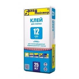 Смесь БудМайстер КЛЕЙ-12 КН-12 ГРЕС 25 кг