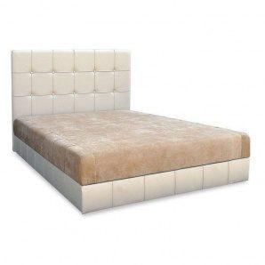 Кровать Вика Магнолия 160 с матрасом мебельная ткань 162х210х112 см