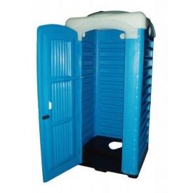 Туалетная кабина для выгребных ям Укрхимпласт полиэтилен синяя