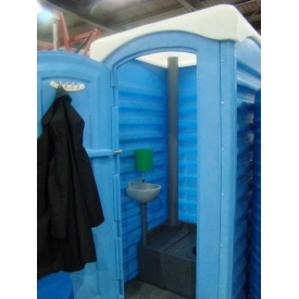 Туалет-кабіна мобільна Укрхімпласт поліетилен 250 л синя