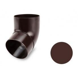 Коліно 67 градусів Galeco PVC SP080 80 мм шоколадно-коричневий