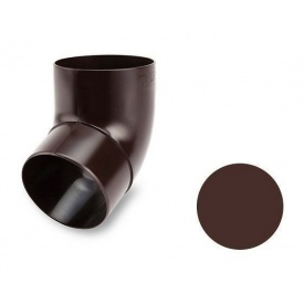 Коліно 67 градусів Galeco PVC 130/100 відливної під хомут 100 мм шоколадно-коричневий