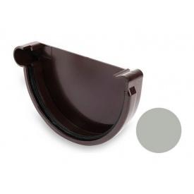 Заглушка ліва Galeco PVC 150/100 148 мм світло-сірий