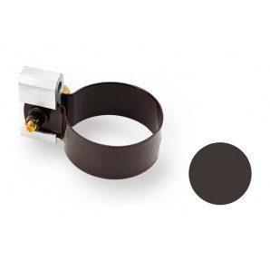 Кронштейн труби металевий Galeco PVC 90/50 50 мм темно-коричневий