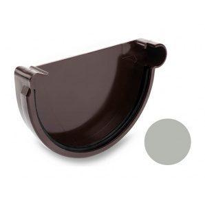 Заглушка правая Galeco PVC 150/100 148 мм светло-серый