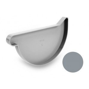 Заглушка левая Galeco PVC 180/125 183 мм светло-серый