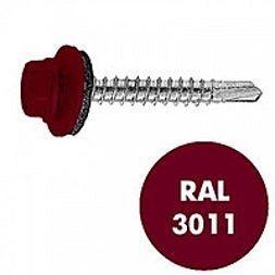 Саморез по металлу Gunnebo Info-Global 4,8х19 мм RAL 3011 250 шт