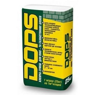 Клей для газоблока Полипласт DOPS 25 кг