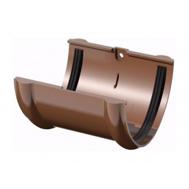 Соединитель желоба ТехноНИКОЛЬ 125 мм коричневый