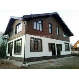 Строительство комбинированного дома из газоблока и дерева