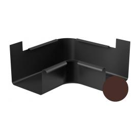 Кут внутрішній 90 градусів Galeco STAL 2 125/80 125 мм шоколадно-коричневий